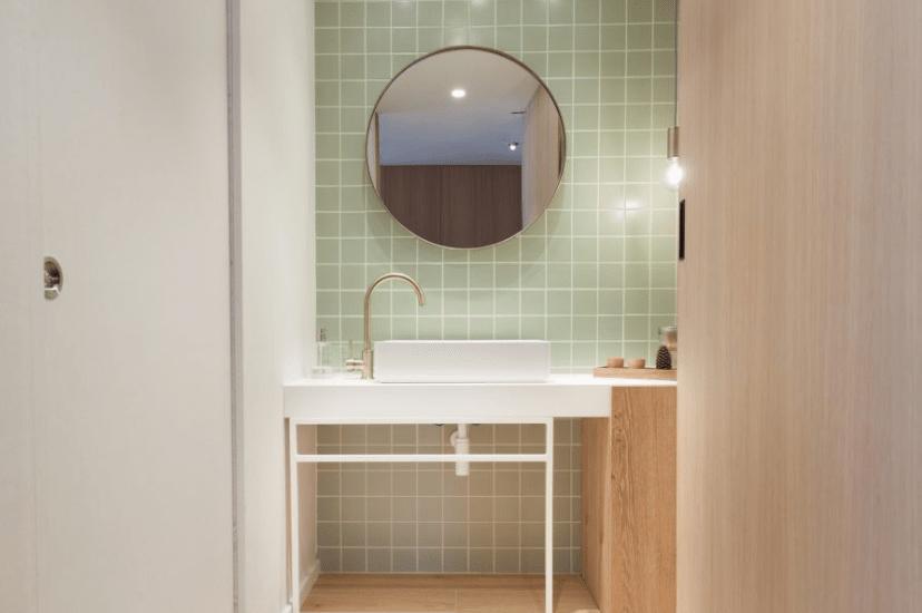 Baño reformado Perspectiva Moma estudio de interiorismo y obra en Logroño